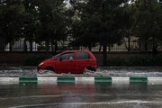 باران عصر جمعه تردد در معابر مشهد را با مشکل مواجه کرد