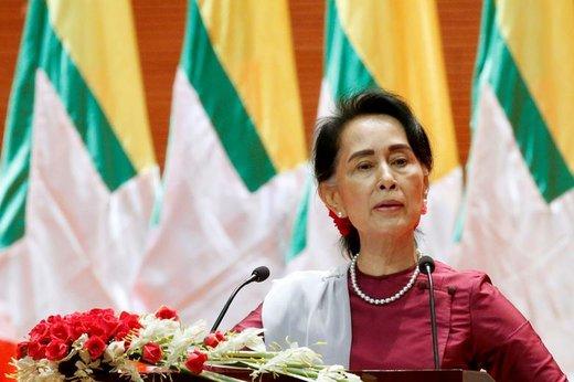 آنگ سان سو چی، مشاور دولتی میانمار