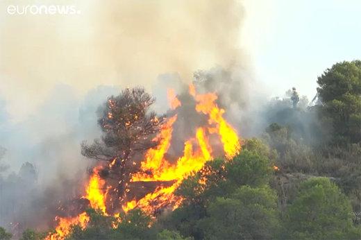 فیلم | بدترین آتشسوزی ۲۰ سال گذشته در جنگلهای اسپانیا