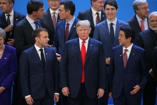 نگاه خیره سران گروه بیست به آغازگر جنگ تجاری جهان