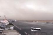 فیلم | لحظه رسیدن طوفان به فرودگاه مشهد