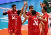 Iran volleyball team hits Bulgaria in VNL