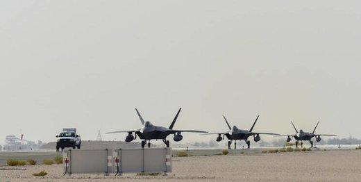 بیانیه ارتش آمریکا درباره استقرار جنگندههای اف-۲۲ در قطر