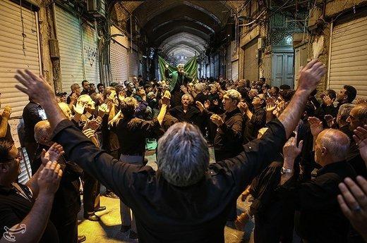 عزاداری شهادت امام صادق(ع) در بازار تهران