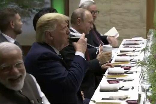 فیلم | از بیادبیهای ترامپ تا رفتار مرکل و لیوان پوتین در حاشیه «جی۲۰»!