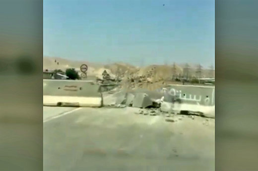 فیلمی که پدر داغدیده از جاده شیراز-خرامه منتشر کرد