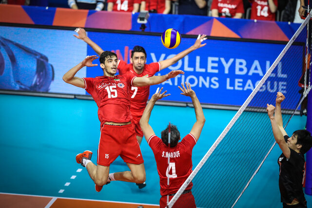 Iran pitted against Brazil, Poland in VNL semi-final