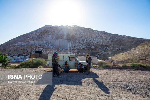 معدن تولید سنگ مرمریت در نیشابور
