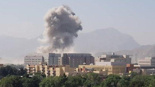 فیلم | لحظه انفجار خودروی بمب گذاری شده جلوی سفارت آمریکا