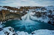 عکس | آبشار یخی ایسلند در عکس روز نشنال جئوگرافیک