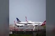 فیلم | ترافیک هواپیماها در فرودگاه سیدنی