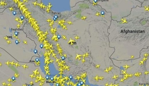 840 رحلة طيران اجنبية تعبر اجواء ايران يوميا