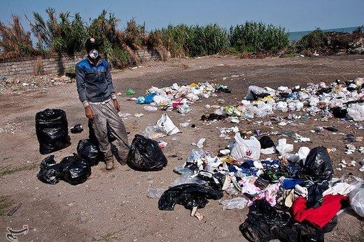 دپوی زباله در ساحل محمودآباد