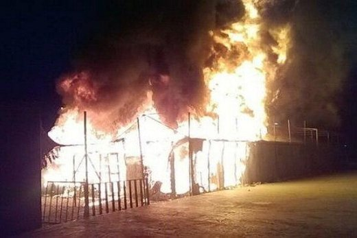 آتشسوزی مرگبار در کمپ ترک اعتیادرباطکریم