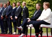 تصاویر| استقبال خارج از عرف مرکل از نخست وزیر دانمارک
