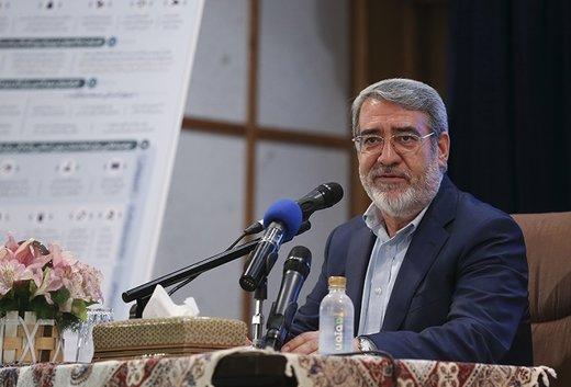 وزير الداخلية الايراني: الأمن في ايران وبمشاركة الشعب في أفضل حالاته