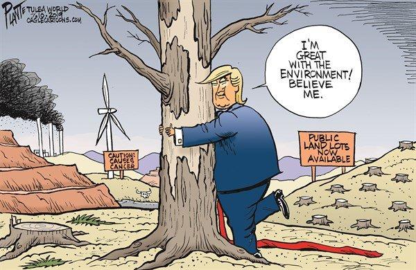 رابطه احساسی ترامپ و محیط زیست را ببینید!