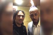 فیلم | بدلکار معروف در جشن حافظ کلهاش را آتش زد!