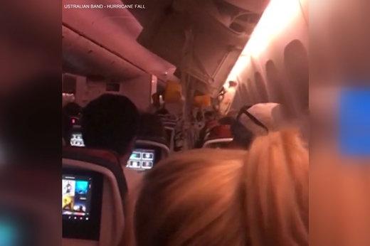 فیلم | مجروح شدن مسافران در تکان شدید هواپیمای کانادایی