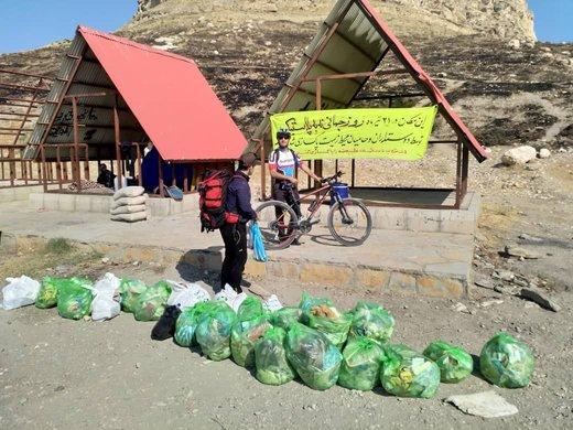 پاکسازی زبالههای کاظم داشی دریاچه ارومیه/ عکس