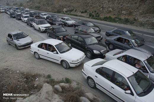 ترافیک روزهای تعطیل در جاده هراز