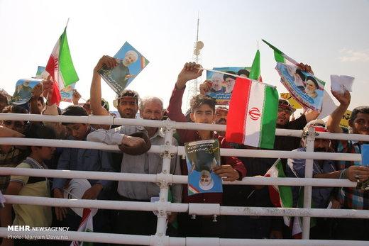 فیلم | استقبال پرشور مردم خراسان شمالی از رئیس جمهور