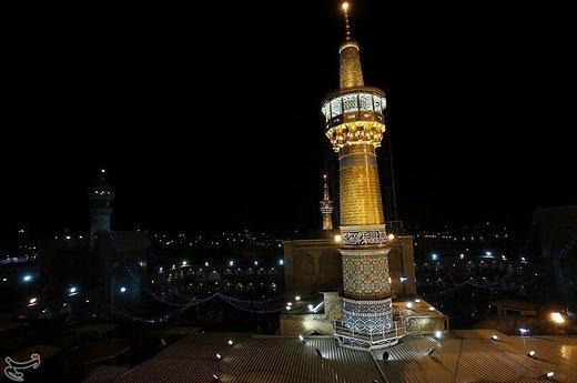 حال و هوای حرم رضوی در شب میلاد امام رضا (ع)