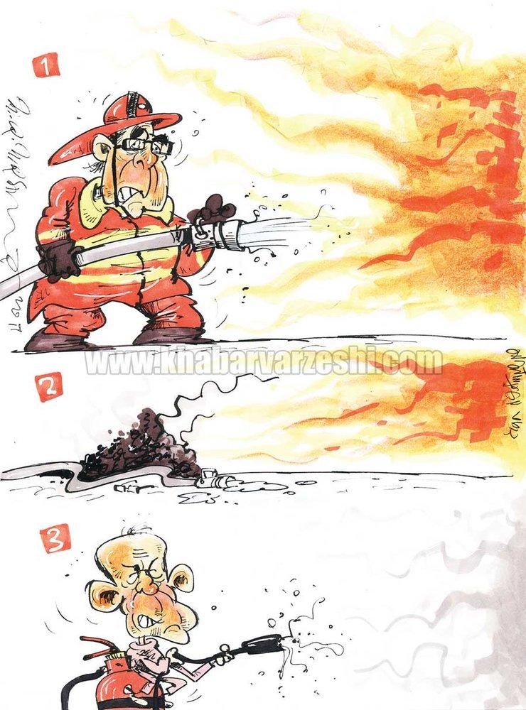 پايان كار آتشنشان شاكي در پرسپوليس!