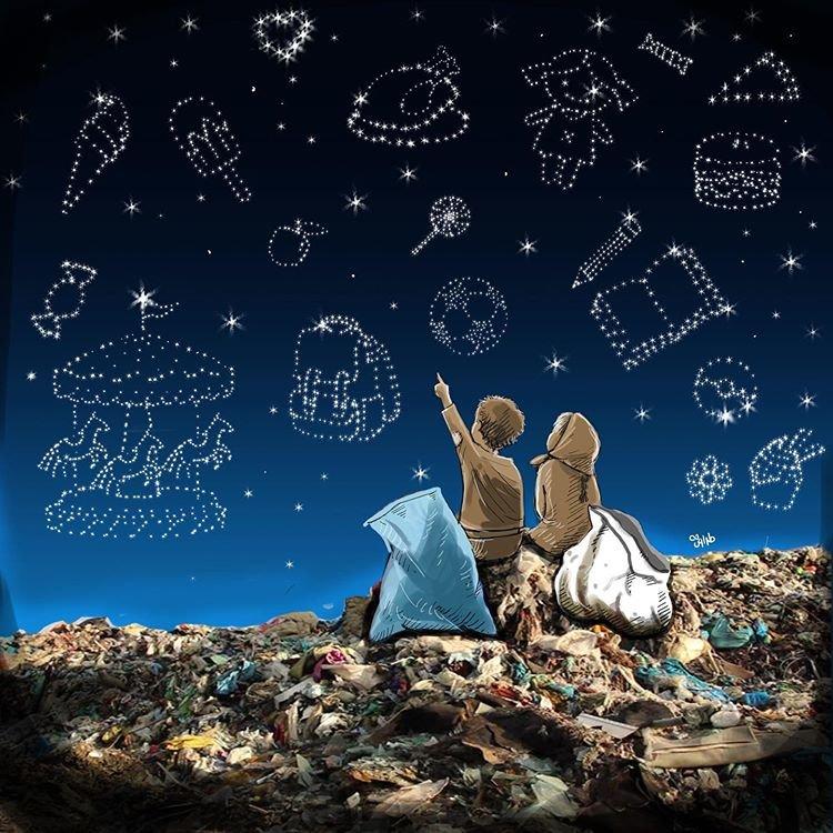 آرزوهای دست نیافتنی در میان زبالهها!