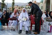 تصاویر   ازدواج ۸ زوج معلول در امامزاده صالح تجریش