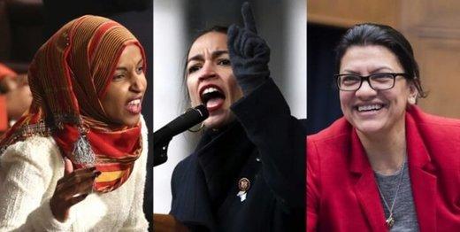 صفآرایی زنان کنگره مقابل ترامپ