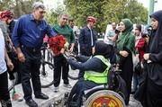 تصاویر | معلولان تهرانی به سهشنبههای بدون خودرو پیوستند