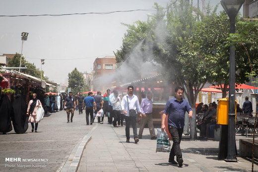 گرمای هوا در تهران