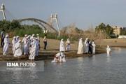 تصاویر | سال جدید پیروان حضرت یحیی(ع) در کنار کارون