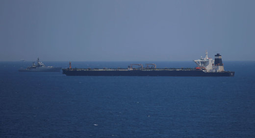 المیادین: کشتی توقیفی پرچم انگلیس داشت