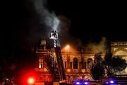 فیلم | بنای تاریخی میدان حسنآباد تهران در آتش سوخت!