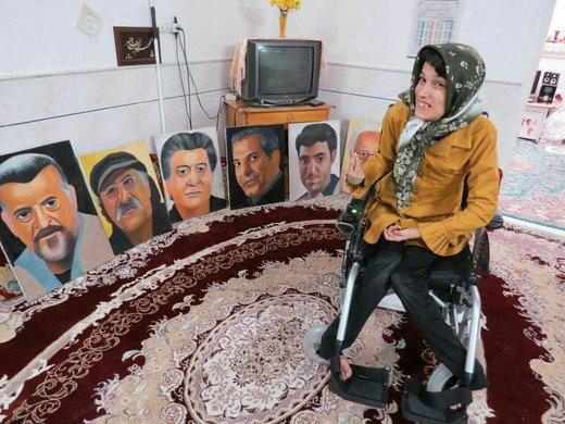 فیلم | تشکر سلمانخان از فاطمه حمامی، نقاش ایرانی!