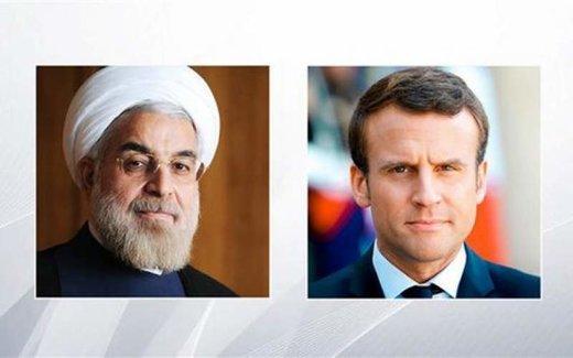 روحانی به مکرون: تحریمها باقی باشد، مذاکره با آمریکا معنا ندارد