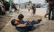 تصاویر | آببازی در نوار غزه