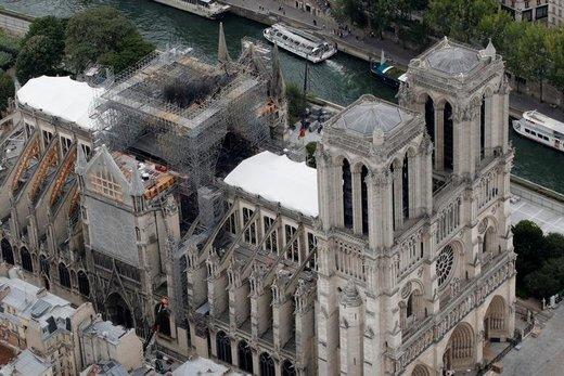 آغاز بازسازی کلیسای نوتردام