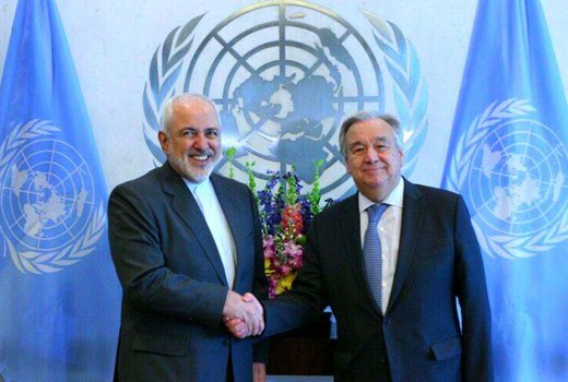 Iran FM confers with UN chief on Middle East developments
