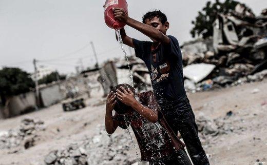 آببازی کودکان فلسطینی