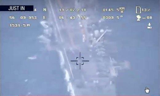 ضربه سنگین سپاه پاسداران به ترامپ/هوافضای سپاه، فیلم رصد ناو آمریکایی «باکسر» را منتشر کرد