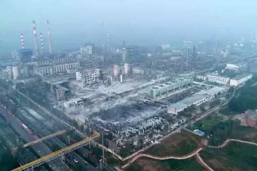 فیلم | خسارت شدید فاجعه کارخانه گاز در چین