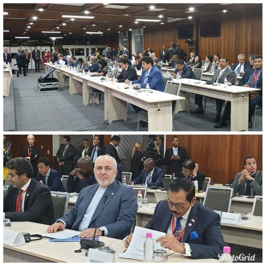 FM Zarif attends NAM committee on Palestine