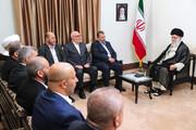 تصاویر | دیدار نایب رئیس دفتر سیاسی حماس و هیئت همراه با رهبر انقلاب