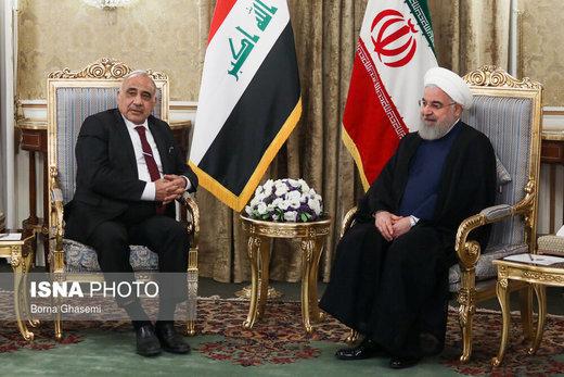 تصویری از دیدار نخستوزیر عراق با روحانی
