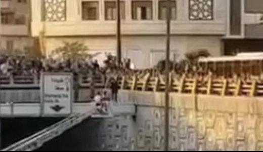 فیلم | آتشنشانان جلوی خودکشی دختر جوان در اتوبان امام علی را گرفتند