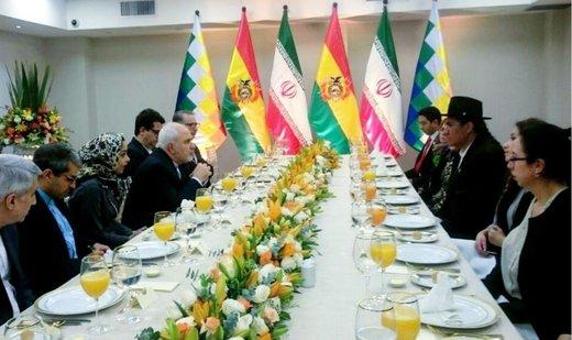 دیدار ظریف با وزیر خارجه بولیوی/ عکس