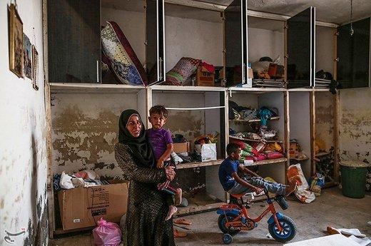"""روستای """"حمدان سلجه"""" یکی از روستاهای مسیر خسرج در حمیدیه است که در سیل اخیر دچار آبگرفتگی شد"""